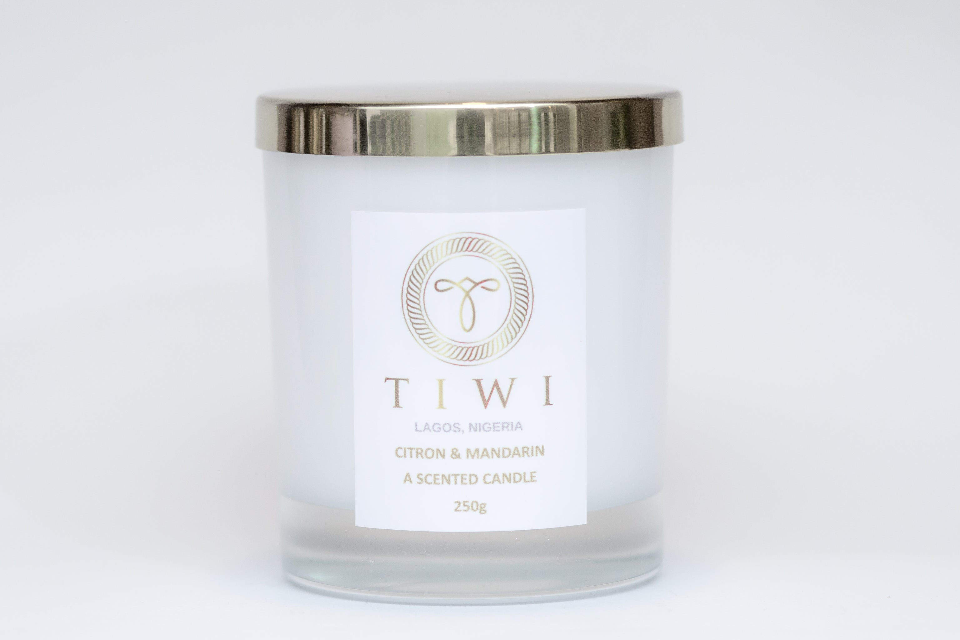 TIWI Citron & Mandarin - A Scented Candle