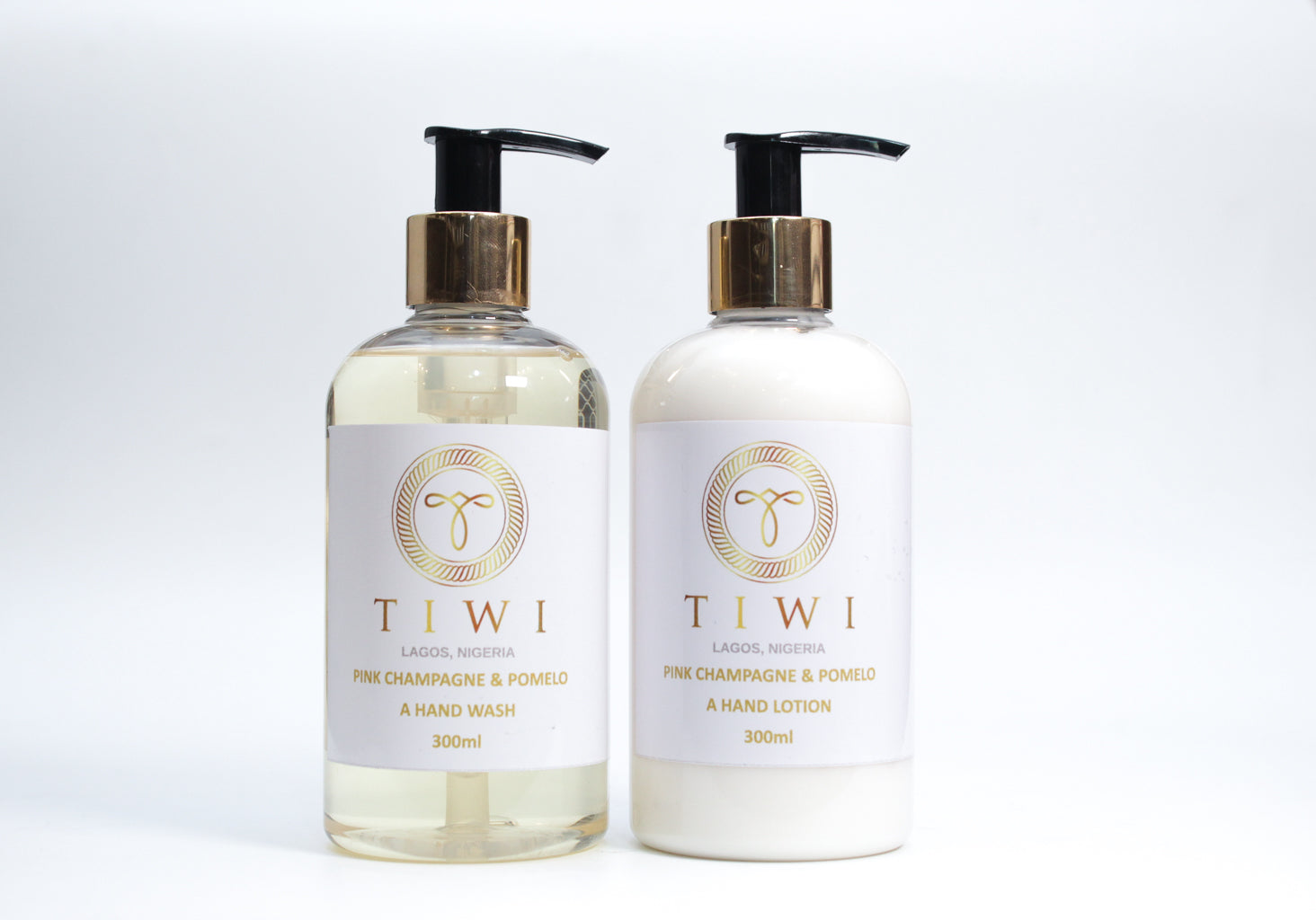 TIWI Pink Champagne & Pomelo Hand Wash Lotion Set - TIWI Home Fragrance