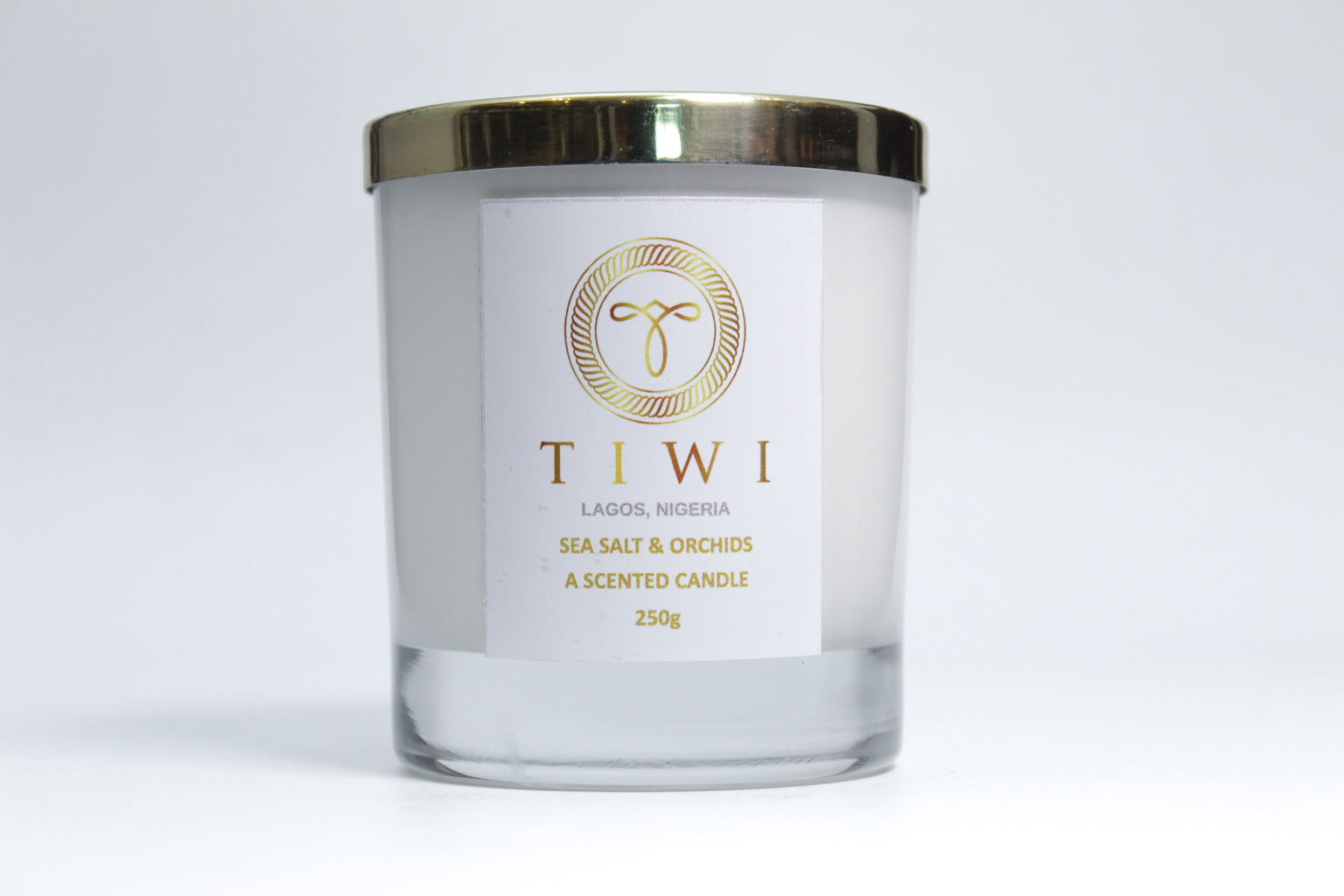 TIWI Sea Salt & Orchids - A Scented Candle - TIWI Home Fragrance