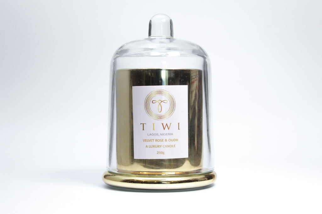 TIWI Cloche Candle - Velvet Rose & Oudh - A Luxury Candle