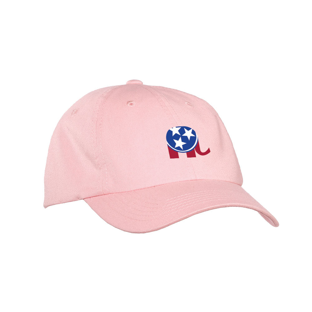 TNGOP Elephant Logo Hat – Light Pink
