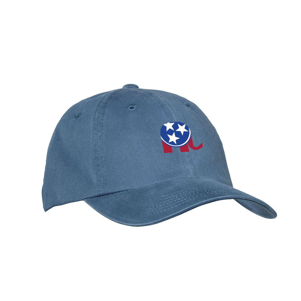 TNGOP Elephant Logo Hat – Steel Blue