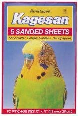 Kagesan Sanded Sheets For Birds Cage 43X27Cm 5 Sheets (Pack Of 12)