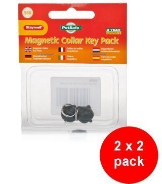 Staywell 980 Collar Magnetic  Key 2 X 2 Pack (4 Spare Keys) Compatible With Staywell Magnetic Cat Flaps (400 & 900 Series)