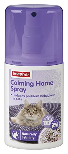 Beaphar Natural Effective Calming Solutions Cat Dog Stress Relief Fireworks Vets, Calming Home Spray, 125Ml