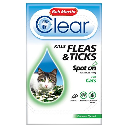Bob Martin Clear Cat Kitten Spot On  Treatment, 3 Tubes, Up To 24 Weeks Solution