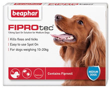 Load image into Gallery viewer, Beaphar Fiprotec Spot On Solution For Medium Dogs 6 Treatments