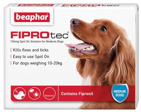 Beaphar Fiprotec Spot On Solution For Medium Dogs 6 Treatments