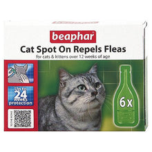 Load image into Gallery viewer, Beaphar Cat Kittens Spot On Treatment Repels Fleas 24 Weeks Protection