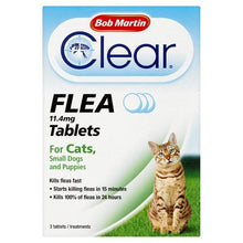 Load image into Gallery viewer, Bob Martin Flea Tablets For Cats And Small Dog Under 11 Kg, 3 Tablets