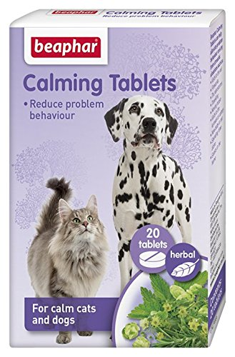 Beaphar Natural Effective Calming Solutions Cat Dog Stress Relief Fireworks Vets Calming Tablets - Dog/Cat 20 Tablets