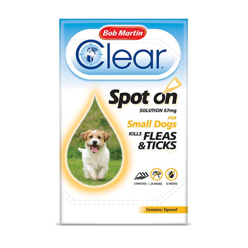 Bob Martin Clear Fipronil Spot On 3 Tube For Small Dog