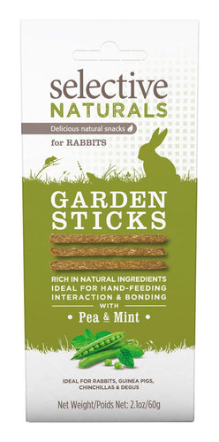Selective Naturals Garden Sticks Treats For Rabbits With Pea And Mint