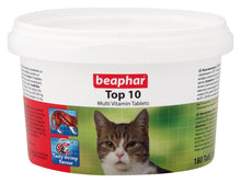 Load image into Gallery viewer, Beaphar Top 10 Cat Multi Vitamin Tablets 180 Tablets / 117G