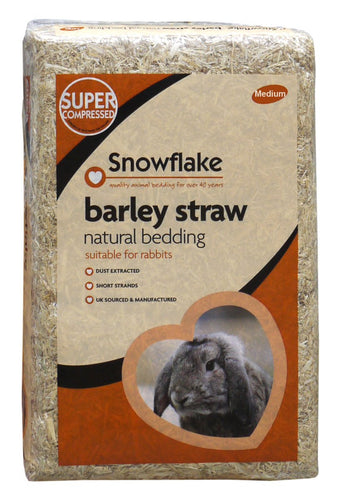 Snowflake Barley Straw, Natural Bedding For Rabbit, Medium