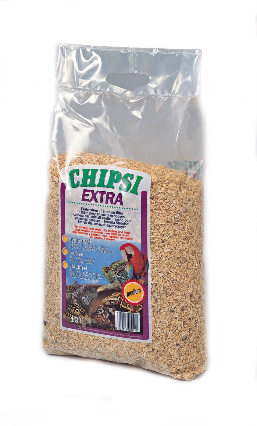 Chipsi Extra Beech Wood Bedding Chips Medium Reptile/Bird Terrarium Litter 15Kg