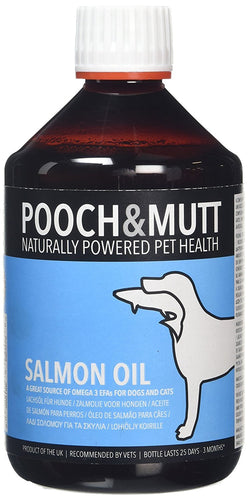 Pooch & Mutt Salmon Oil For Dogs And Cats 500Ml