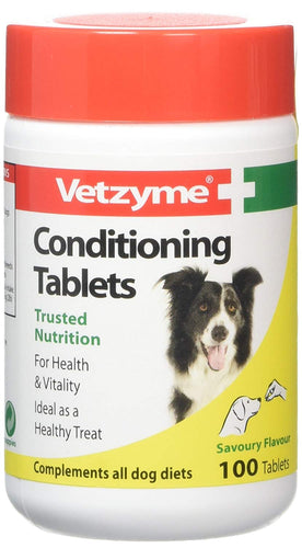 Vetzyme Conditioning Tablets For Your Pets, 100 Tablets
