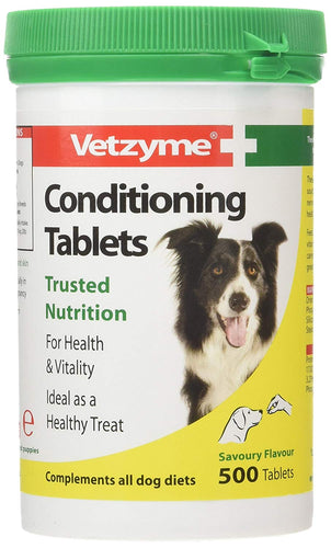 Vetzyme Conditioning Tablets For Your Pets, 500 Tablets