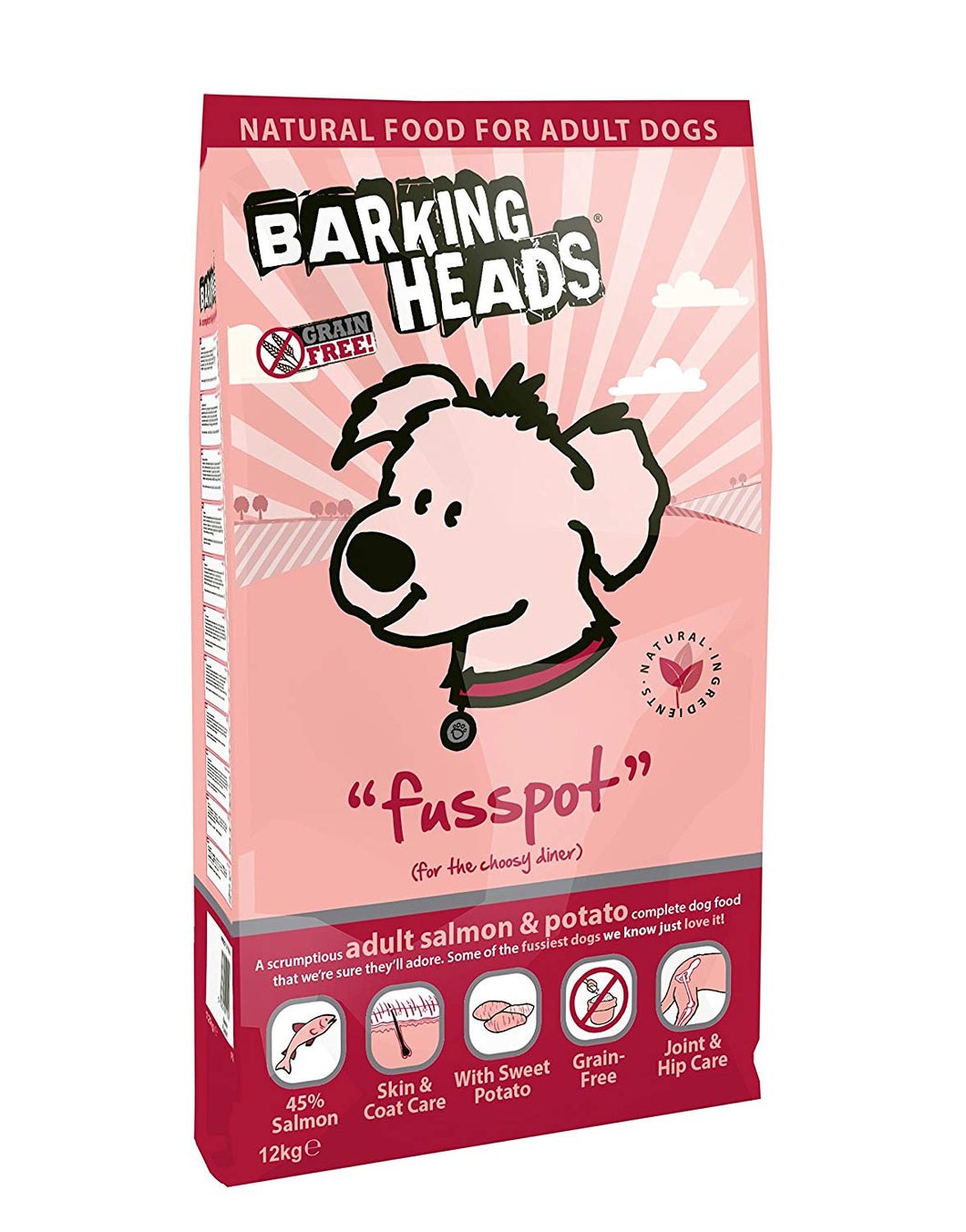 Barking Heads Dog Food Fusspot Salmon & Potato 12Kg