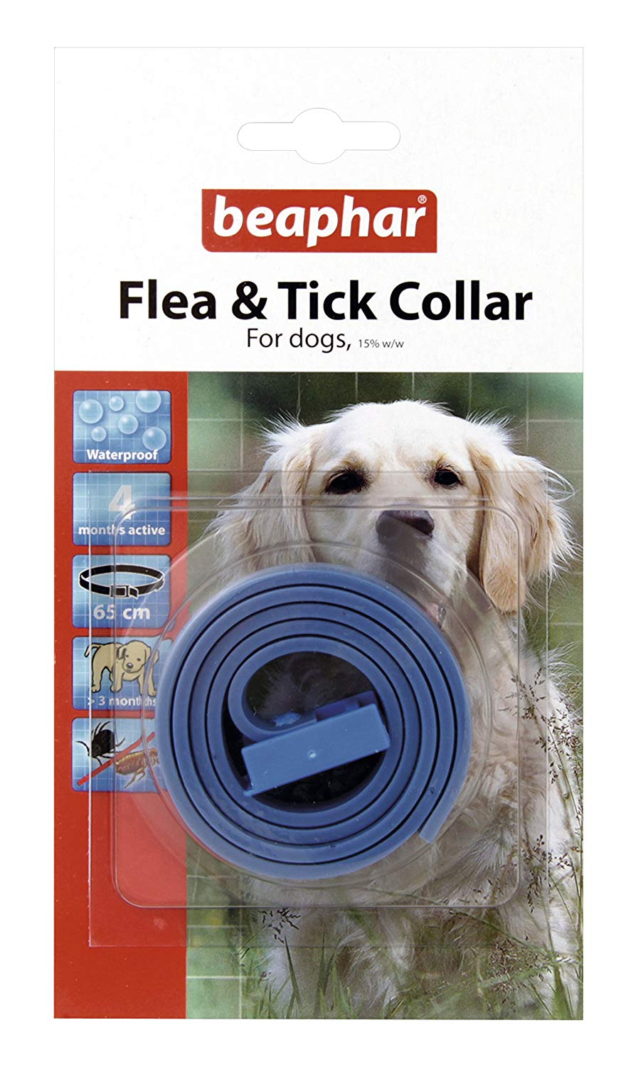 Beaphar Collar For Dogs, Plastic Reflective Collar