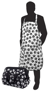 Wahl Paw Print Pet Dog Grooming Bag And Apron Set