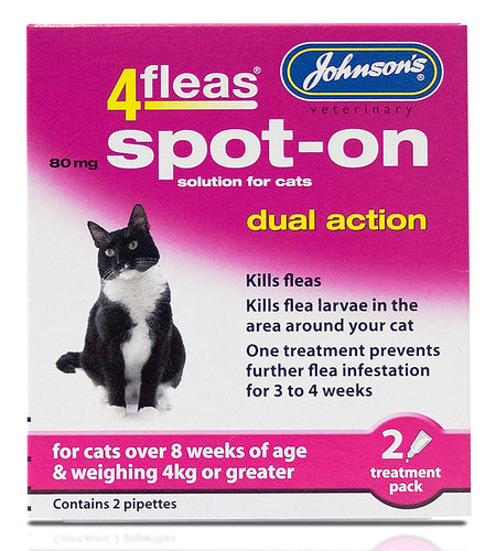 Johnsons Dual Action Spot On For Cats And Kittens Over 4Kg, 2 Pippets