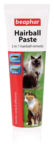 Beaphar Hairball Paste For Cats, 2 In 1 Hairball Remedy