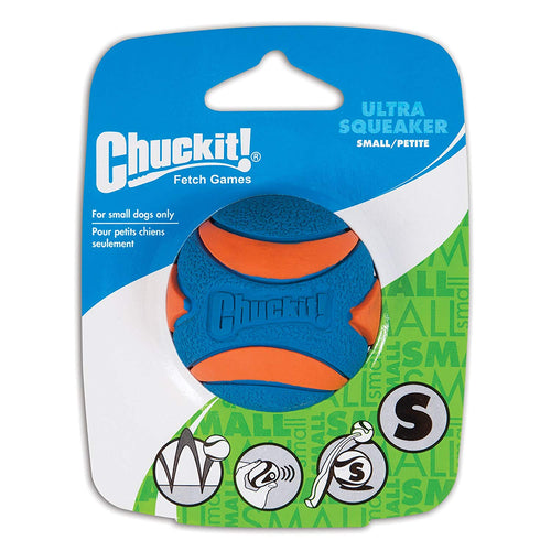Chuckit Ultra Squeaker Ball  Dog Toy Small 1-Pack