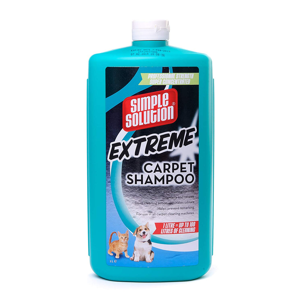 Simple Solution Extreme Carpet Shampoo For Pet Cat Dog Stains & Odours - 1 Litre