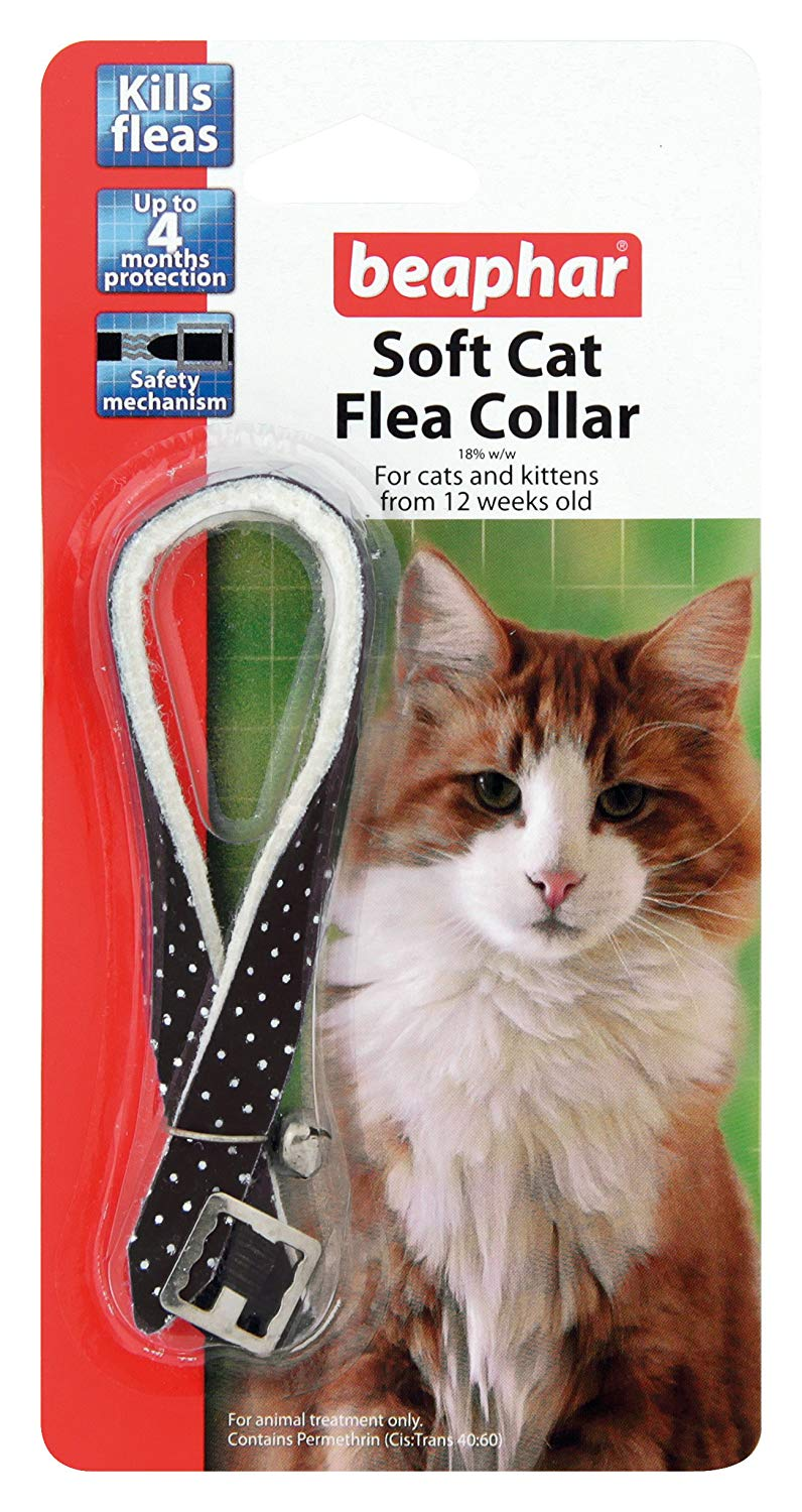 Beaphar Cat Soft Collar Sparkle, Black