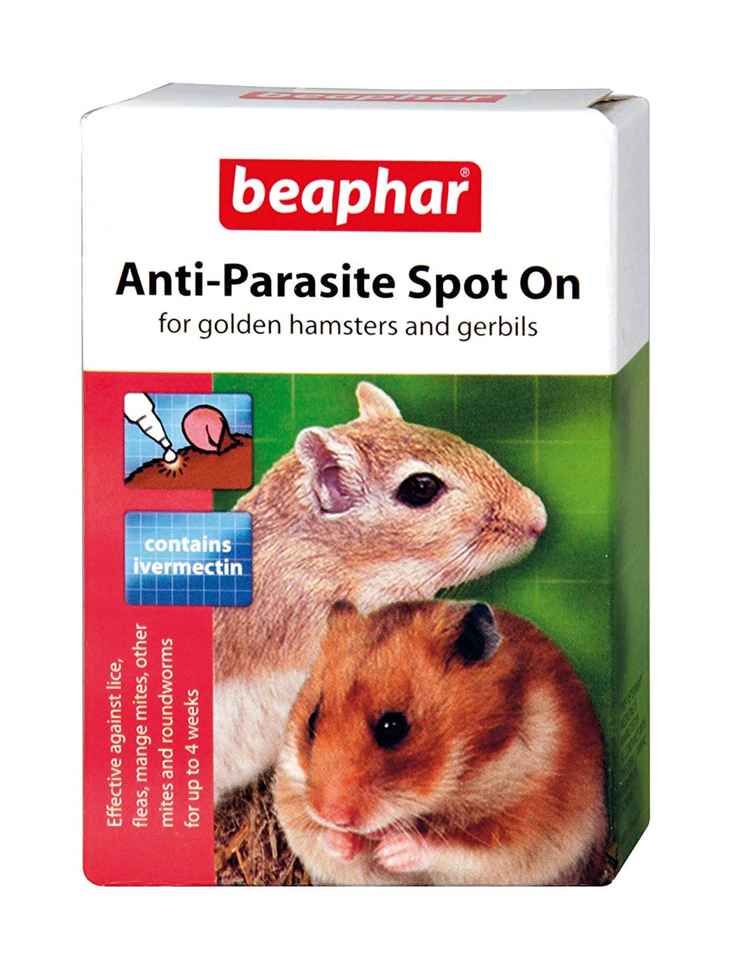 Beaphar Books Anti-Parasite Spot-On For Golden Hamsters And Gerbils X 2 Pack