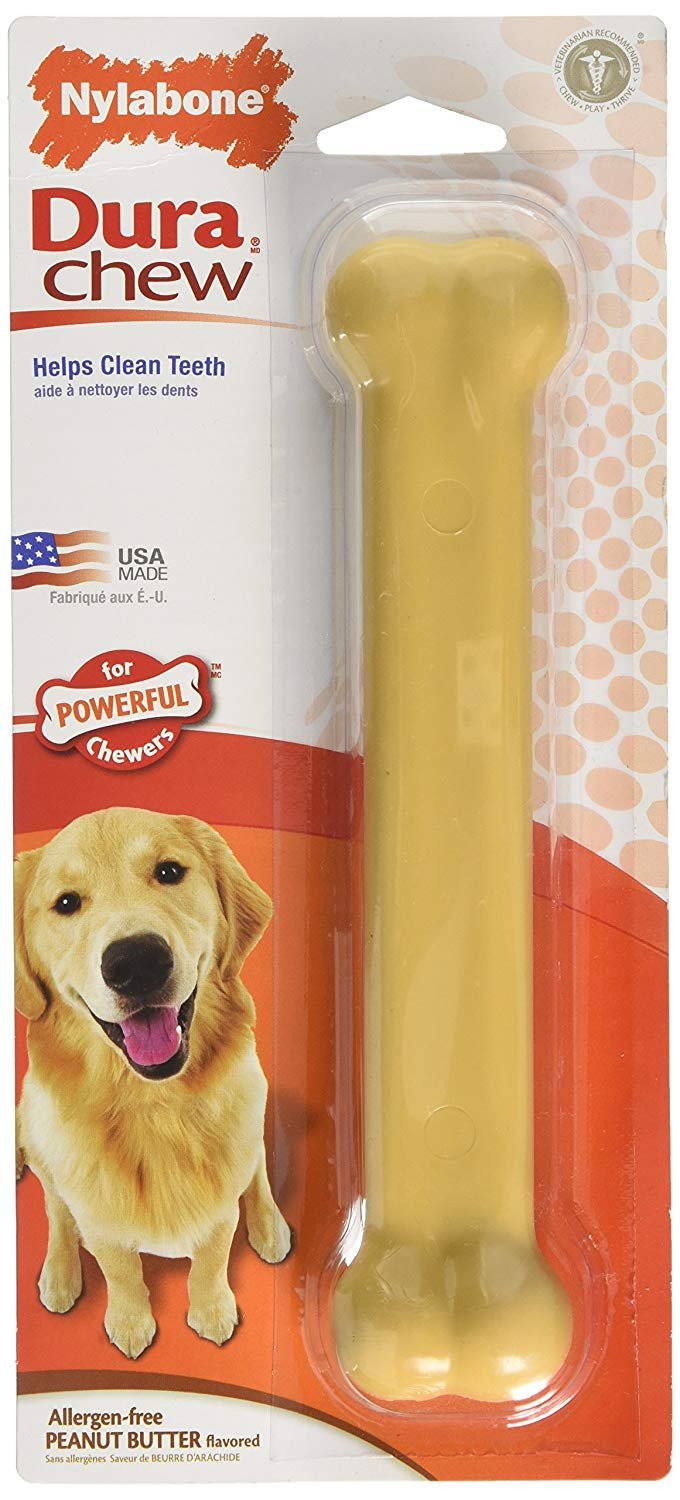 Nylabone Dura Chew Dog Treat Peanut Butter, Giant