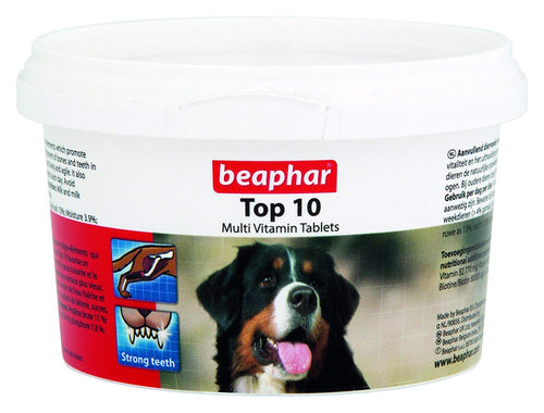 Beaphar Top 10 Dog Multivitamin Tablets 180 Tablets / 117G