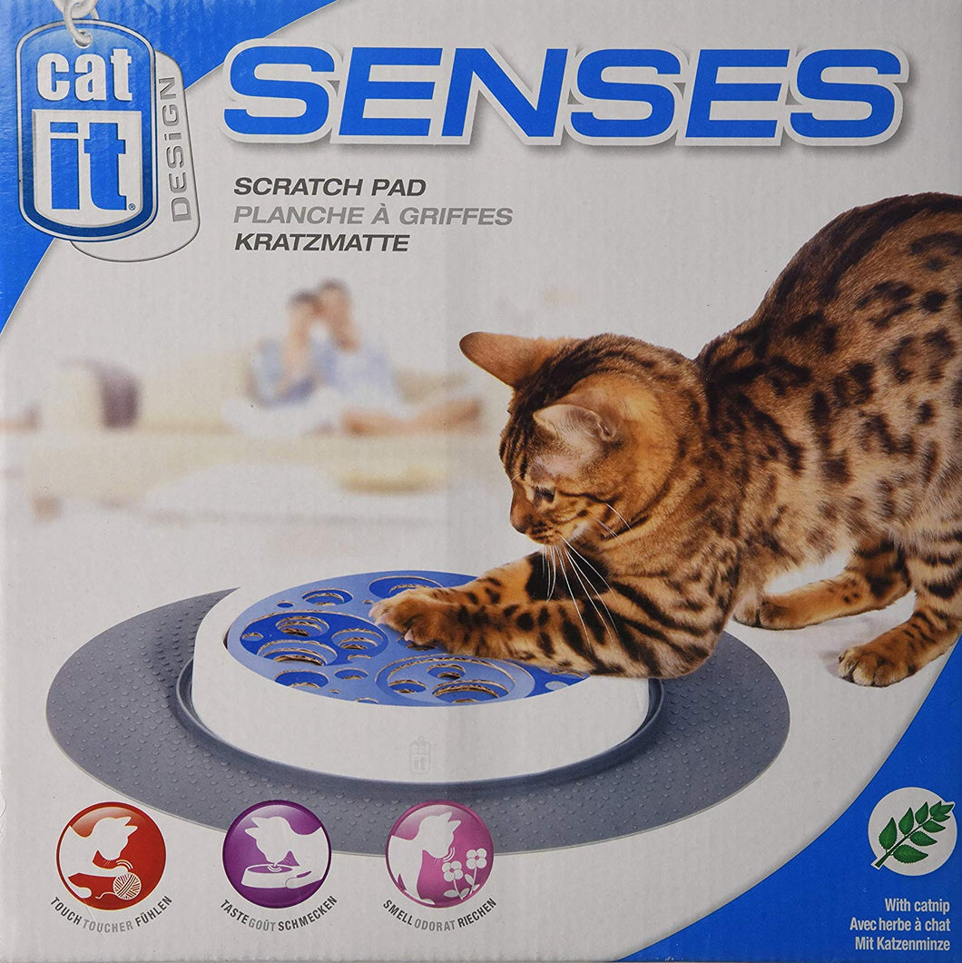 Catit Senses Scratch Pad-  Cat Kitten Play Toy - Appeals To A Cat'S Sense Of Touch