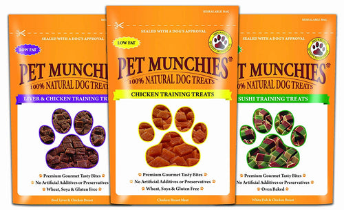 Pet Munchies Dog Training Treats Mixed Pack, Pack Of 12