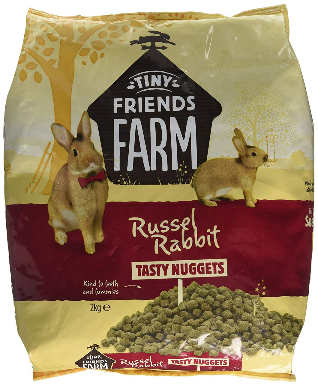 Supreme Tiny Friends Farm Russel Rabbit Tasty Nuggets Nutrition Food, 2 Kg