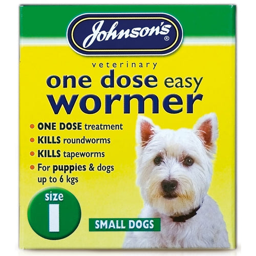 Johnsons Vet Easy One Dose Wormer, Size 1