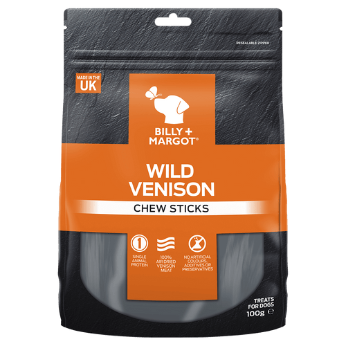Billy + Margot Venison Chew Sticks