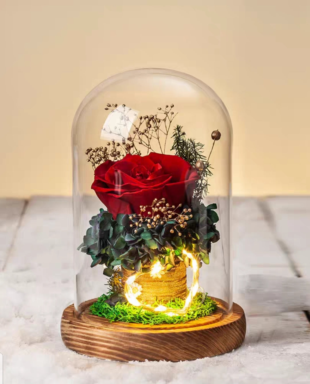[V-day] Preserved Flower 393 (w led lights)