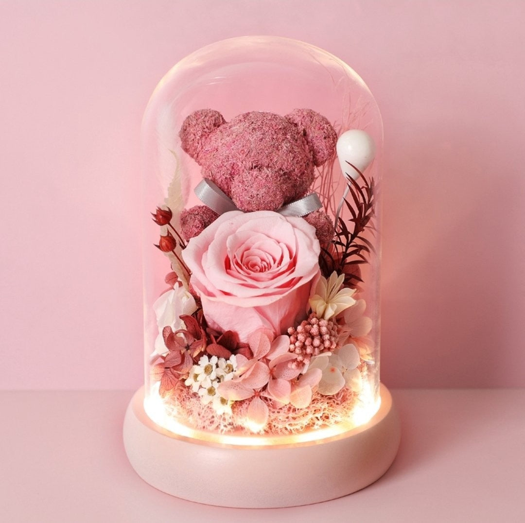 Preserved Flower 377 (w led lights)