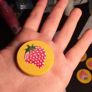 OG Strawberry Gluebabies Pins (wood)