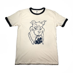 NYC Pizza Wolf Ringer Tee