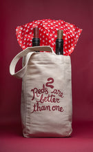 Load image into Gallery viewer, 2 Reds Canvas Wine Tote
