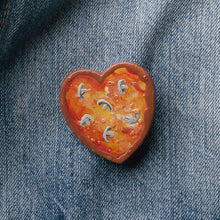 Load image into Gallery viewer, GlueBabies Wooden Pizza Heart Pins