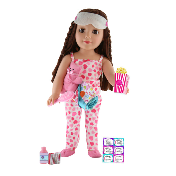 "18"" Doll & Accessories Playset - Slumber Party - Be My Girl"