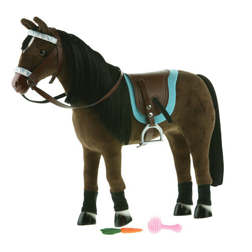 10-Inch English Horse - Brown