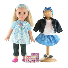 18 Inch Deluxe Doll with Additional Outfit