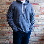 Fish Logo Hooded Sweatshirt (Dark Gray)