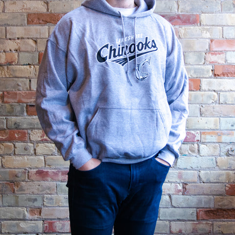 Logo Hooded Sweatshirt (Gray)